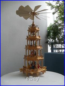 Vintage german christmas pyramid, collectors, christi birth pyramid, 72cm