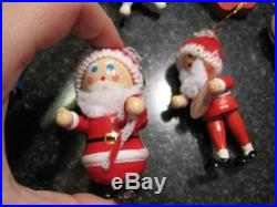 Vintage small wooden Christmas ornaments huge lot kitschy