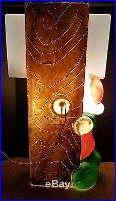 Vtg Christmas 34 Elf SANTA'S WORKSHOP General Foam Lighted Blow Mold Decoration