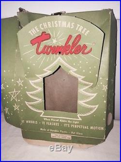 Vtg Old Twinkler Twirler Christmas Tree Ornament Tinkle Toy Lot Of 6