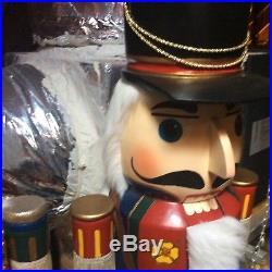 Vtg Pair 60 Lifesize Giant Large Nutcracker Christmas Holiday Decor 5ft
