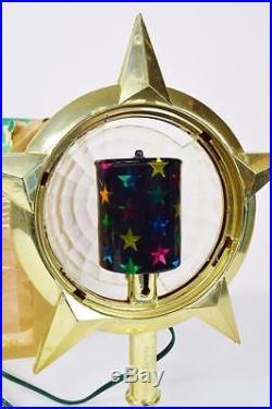 Vtg Psychedelic Bradford Celestial Star Motion Lamp Light Christmas Tree Topper