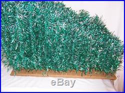 Vtg Revlis Starlite NOS 6′ green silver tree aluminum # C-161 mid century 1950s