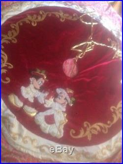 WDW Disney Victorian Mickey Xmas Large Tree Skirt