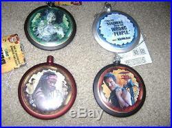 Walking Dead AMC Blow Mold Disc NWT Christmas Holiday Ornament Box Set 80mm