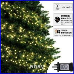 Warm White Multi Action LED Cluster Indoor Outdoor Tree String Fairy Lights BNIB