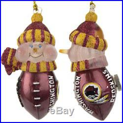 Washington Redskins Light-Up Snowman Ornaments set of 3