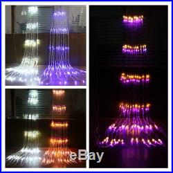 Waterfall LED Curtain Lights Christmas Decorations Outdoor Indoor Lighting Decor