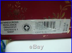 Waterford 2014 Red Cross Ornament NIB
