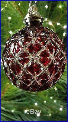 Waterford Crystal 2013 Ruby Ball Ornament 161066 MIB Mint Please Read