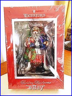 Waterford Crystal Holiday Heirlooms CHRISTMAS EVE SANTA ORNAMENT Glass NEW