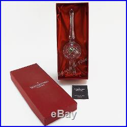 Waterford Crystal Tree Top Topper Xmas Ornament 10 Star Ireland Made Gothic