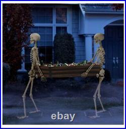 Way to Celebrate Halloween Skeleton Duo Carrying Coffin 5