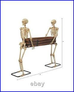 Way to Celebrate Halloween Skeleton Duo Carrying Coffin 5′ CONFIRMED ORDER