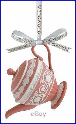 Wedgwood Iconic Teapot Porcelain Christmas Ornament 2014 Decoration New Tea