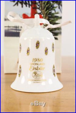 Weihnachts Glocke 1980 Hutschenreuther Porzellan OVP Christmas Bell