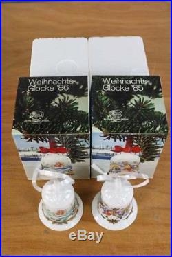 Weihnachts Glocke 1985 + 1986 Hutschenreuther Porzellan OVP Christmas Bell