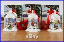 Weihnachts Glocke 1987+88+89 Hutschenreuther Porzellan OVP Christmas Bell