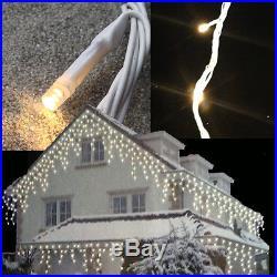 Weihnachtsbeleuchtung LED Lichterkette Eisregen Schneefall Eiszapfen Snow Motion