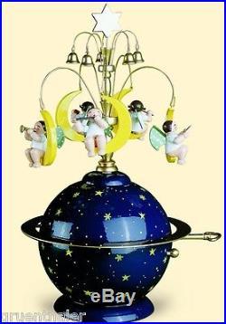 Wendt & Kühn Spieldose Spieluhr Weltkugel Engel 5336/9A Stille Nacht Erzgebirge