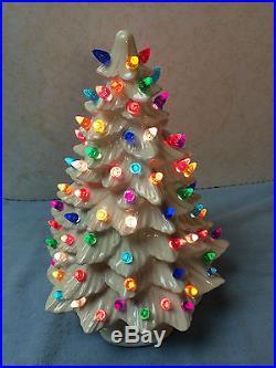 White Birillant Glazed Ceramic Christmas Tree