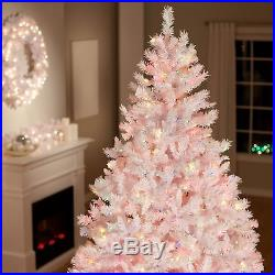 White Full 7.5′ Pre-Lit Artificial Christmas Tree Home Living Room Holiday Decor