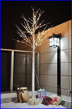 White Light Birch Tree, 8 Ft Ideal For Holiday, Home, Party, Wedding, Christmas