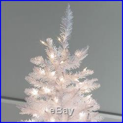White Tiffany Tinsel Pre-lit Christmas Tree by Sterling Tree Company, White