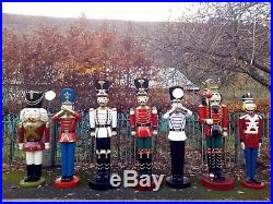 White Toy Soldier With Trumpet 6ft Indoor Outdoor Christmas Model Prop Gift