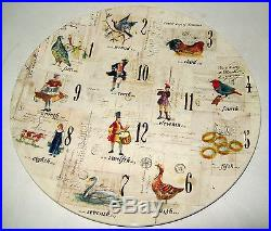Williams Sonoma 12 Days of Christmas Dinner Cookies Serving Platter Plate New