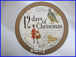 Williams Sonoma 12 Days of Christmas Plates 2008 8.75 New in Box