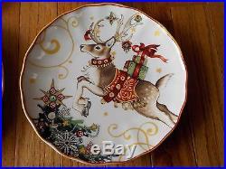 Williams Sonoma Set of 8 TWAS THE NIGHT BEFORE CHRISTMAS SALAD PLATES