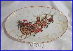 Williams Sonoma'Twas The Night Before Christmas Santa Oval Serving Platter