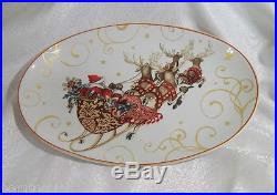 Williams Sonoma'Twas The Night Before Christmas Santa Oval Serving Platter NEW