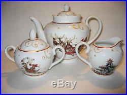 Williams Sonoma Twas The Night Before Christmas Teapot, Creamer and Sugar Bowl