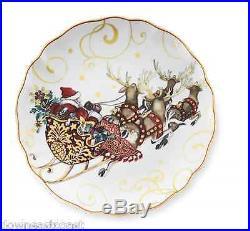 Williams Sonoma'Twas the NIGHT BEFORE CHRISTMAS dinner Plates SET OF 12 SANTA