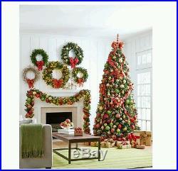 Winslow Fir Prelit Holiday Wreath Multicolor Lights christmas Xmas tree 48