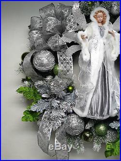 Winter Angel Wreath Christmas Holiday Wreath Wall Door