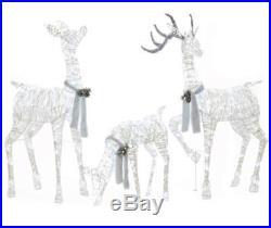 Winter Christmas Decoration Light-Up LED Deer Family 3-Pc Outdoor Decor Xmas NIB
