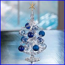 Winter Wonderland Hand-Blown Glass Christmas Tree