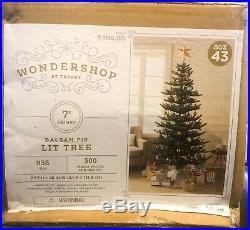 Wondershop 7ft Prelit Artificial Christmas Tree Balsam Fir Warm White LED Lights