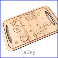 Wood santa treat tray, place mat, Christmas eve santa clause plate / tray xmas