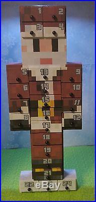 Wooden Limited Edition Minecraft Santa Advent Calendar
