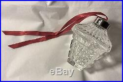 Wow! Beautiful! Vintage Waterford Set 8 Large Crystal Ball Christmas Ornaments