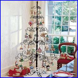 Wrought Iron Christmas Tree Metal Stand Holiday Ornament Display 7 Foot Easter
