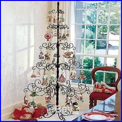 Wrought Iron Christmas Tree Wire Metal Holder Stand For