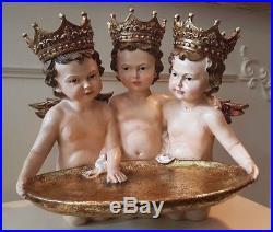 Wunderschöne Engel Putten Tablett Shabby Vintage Gold Goodwill 35cm x 30cm NEU