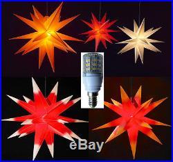 XXL 100cm LED Außenstern 3D außen Stern Adventsstern Leuchtstern Weihnachtsstern