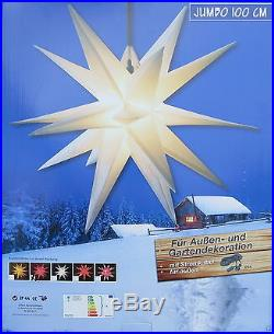 XXL-Jumbo-100cm Adventsstern gelb Außenstern außen Stern Weihnachtsstern 1m Neu