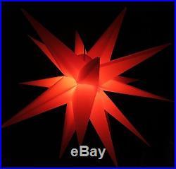 XXL-Jumbo-100cm Adventsstern rot Außenstern 3D außen Stern Weihnachtsstern 1m